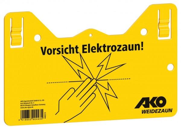 """AKO Warnschild """"Vorsicht Elektrozaun!"""""""