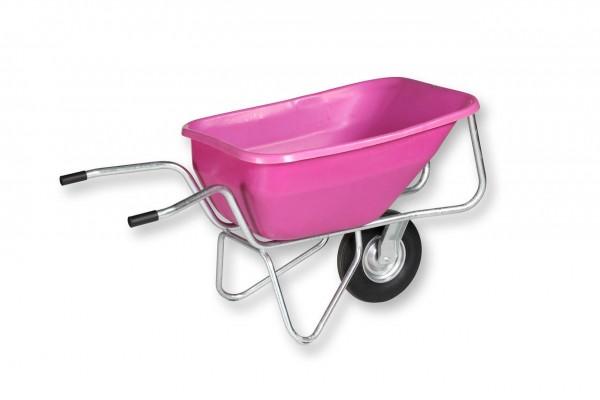 Schwarz Einrad-Schubkarre BIG BEN 260 Liter pink
