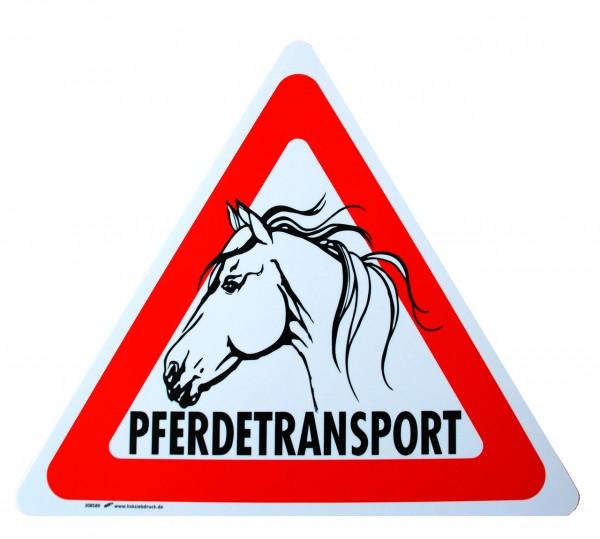 """WAHL-Hausmarke Hinweisschild """"Pferdetransport"""""""