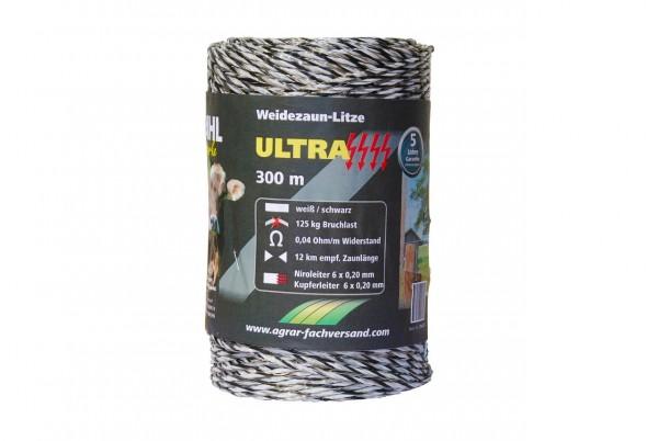 WAHL-Hausmarke WEIDEZAUNLITZE - ULTRA - 300m