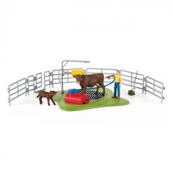 Schleich Kuh Waschstation