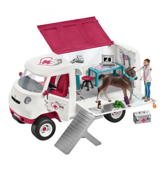 Schleich Mobile Tierärztin mit Fohlen
