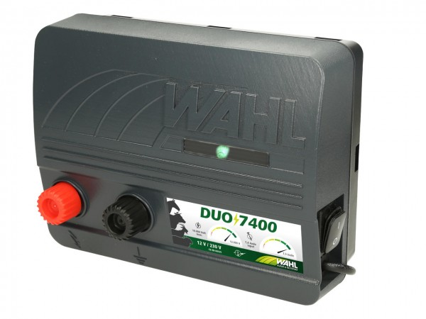 WAHL-Hausmarke DUO 7400 - 12 V / 230 V Weidezaungerät