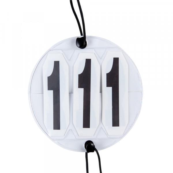 Faltkopfnummern rund, weiss (Paar)